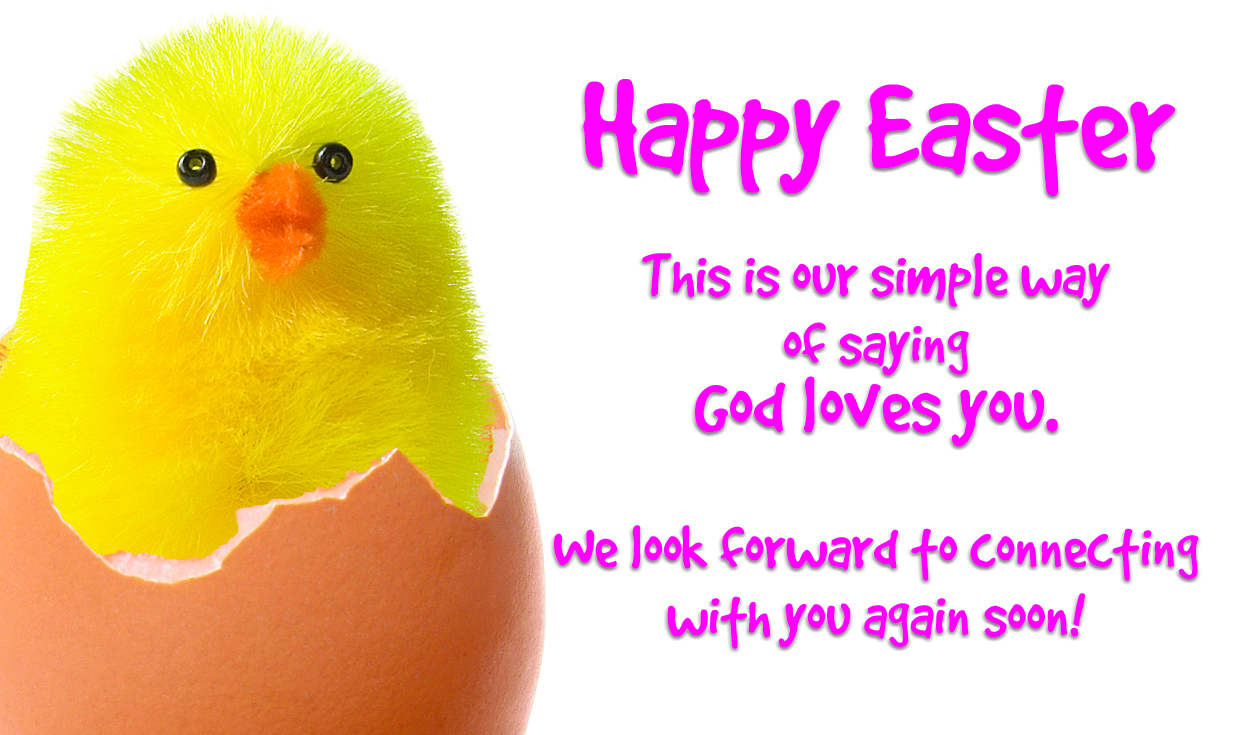 Easter Chick Outreach Connect Card – Easter Card Messages