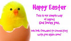 Easter Chick Outreach Connect Card