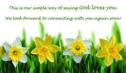 Easter Flowers Outreach Connect Card