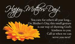 Mother's Day Gerber Daisies Outreach Connect Card