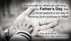 Father's Day Outreach Connect Card - Hand in Hand