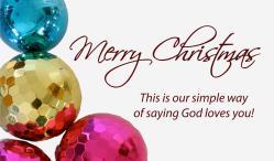 Christmas Ornaments Outreach Connect Card