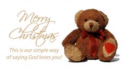 Christmas Teddy Bear Outreach Connect Card